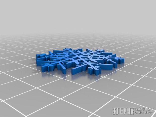 参数化雪花片模具 3D模型  图7