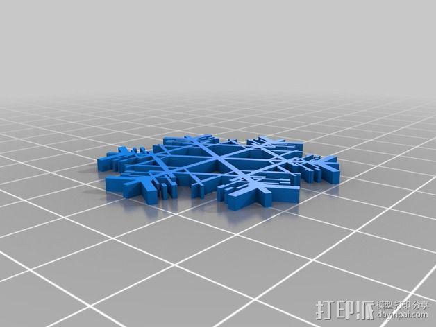 参数化雪花片模具 3D模型  图8