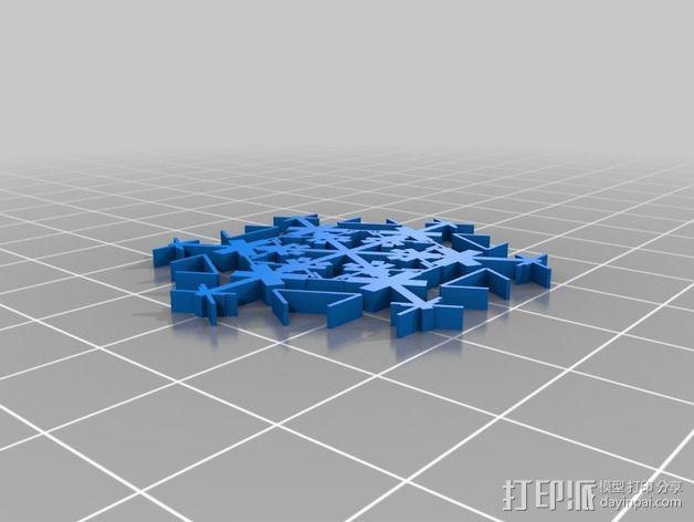 参数化雪花片模具 3D模型  图9