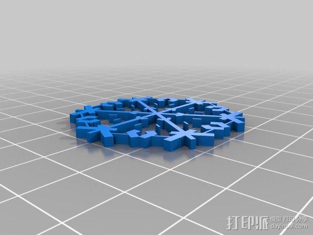 参数化雪花片模具 3D模型  图11