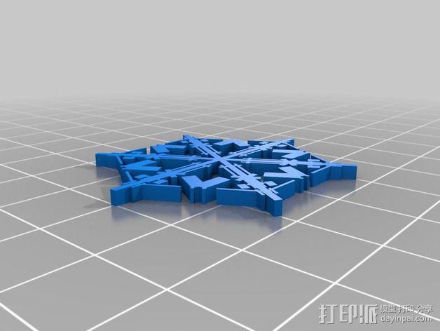 参数化雪花片模具 3D模型  图13