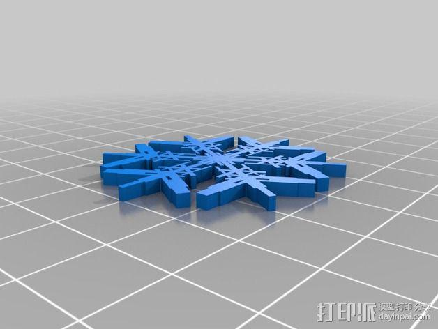 参数化雪花片模具 3D模型  图14