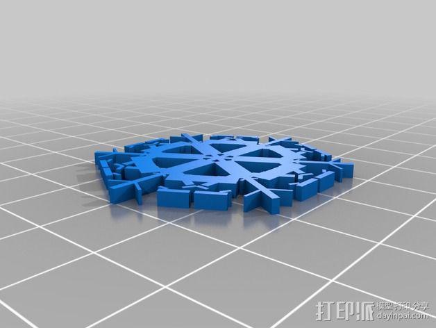 参数化雪花片模具 3D模型  图16