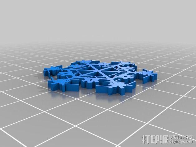 参数化雪花片模具 3D模型  图19