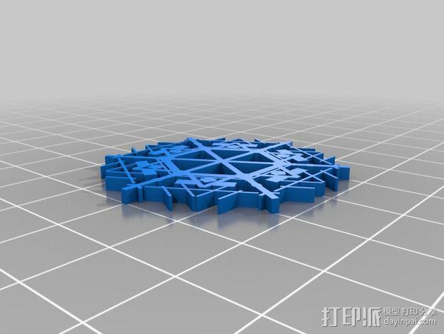 参数化雪花片模具 3D模型  图18