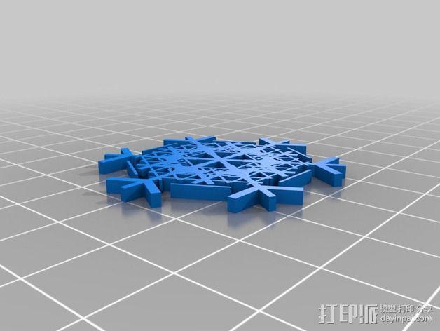 参数化雪花片模具 3D模型  图20