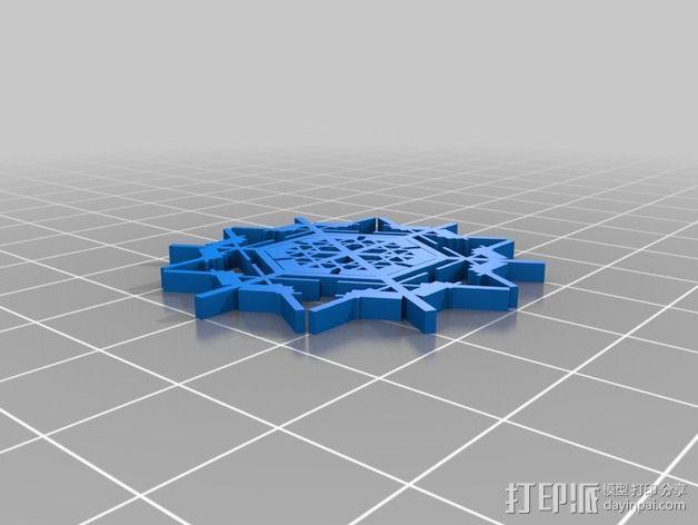 参数化雪花片模具 3D模型  图21
