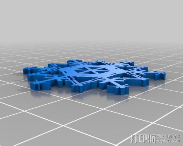 参数化雪花片模具 3D模型  图23