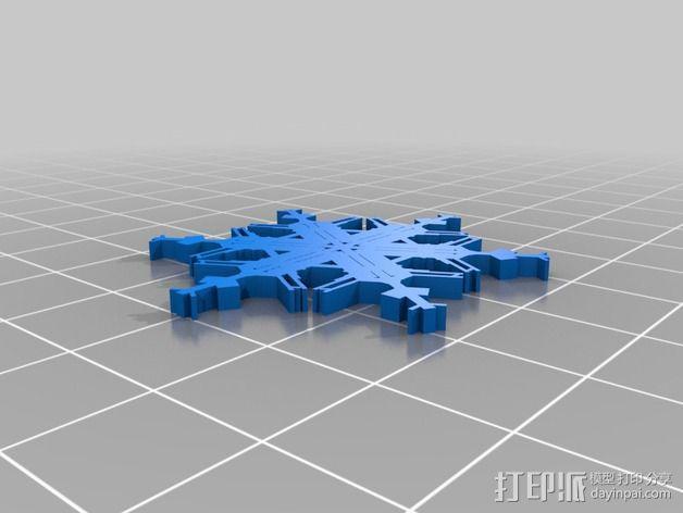 参数化雪花片模具 3D模型  图22
