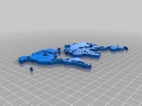 世界地图模型 3D模型