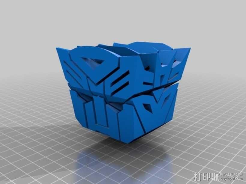 汽车人VS霸天虎 标志 3D模型  图1