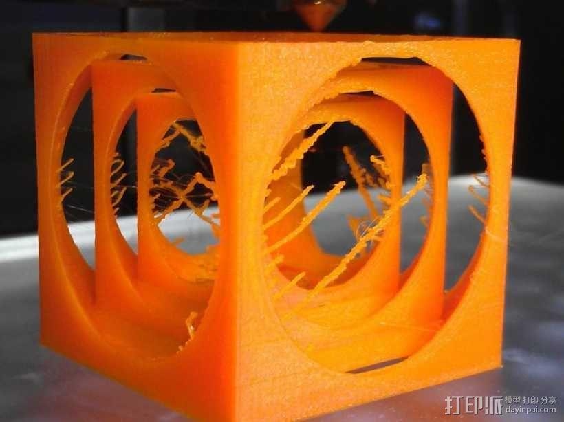 嵌套式立方体 3D模型  图1