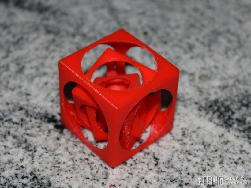 嵌套式立方体 3D模型  图2
