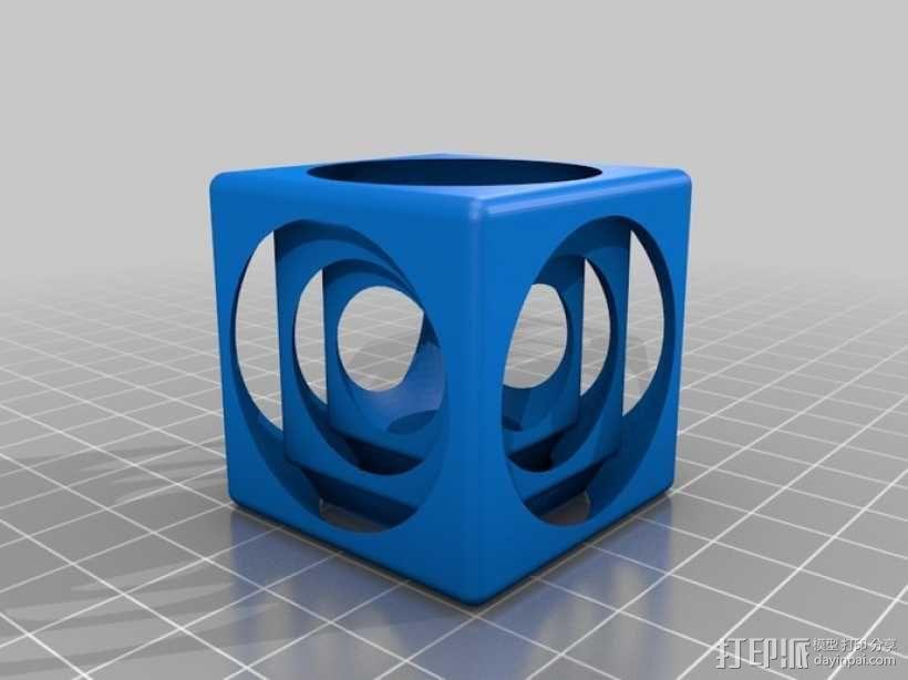 嵌套式立方体 3D模型  图3