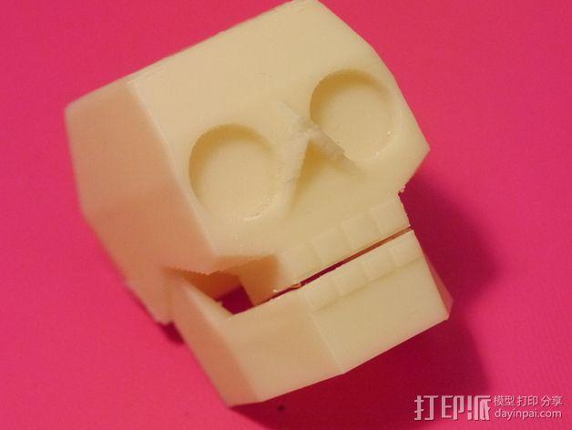 萌版几何头骨 3D模型  图2