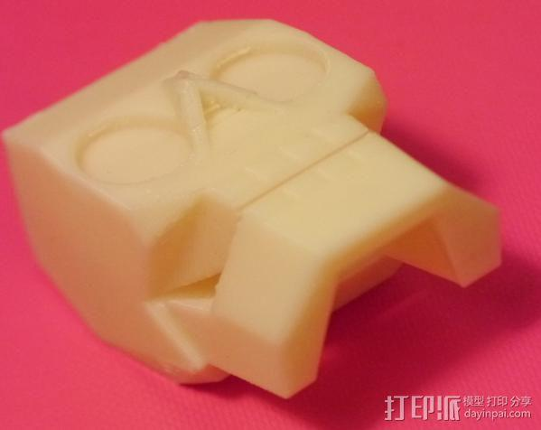 萌版几何头骨 3D模型  图3