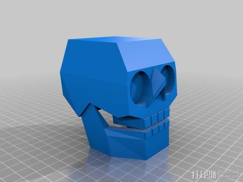 萌版几何头骨 3D模型  图1