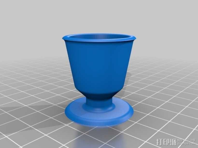 毕达哥拉斯杯 公道杯 3D模型  图1