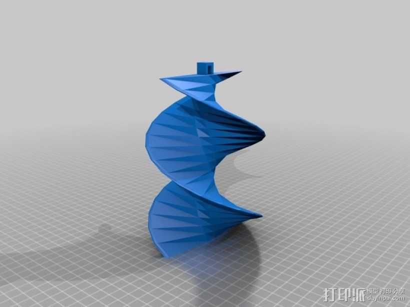螺旋叶片 3D模型  图1