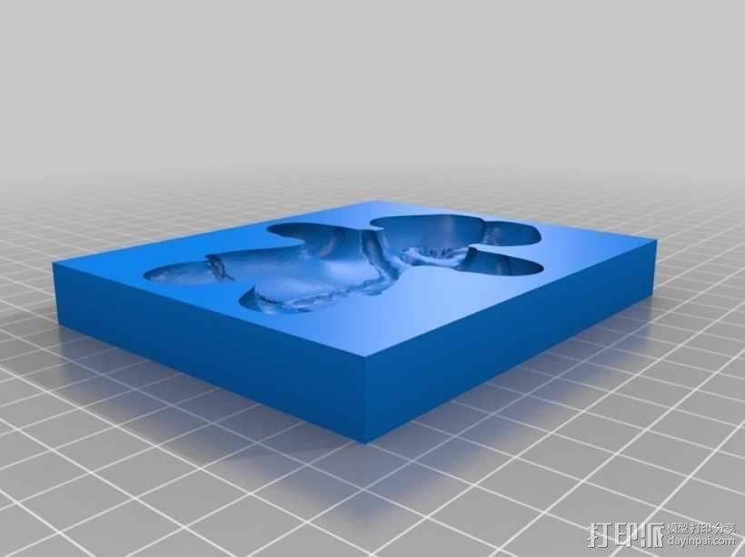 姜饼人模具 3D模型  图2