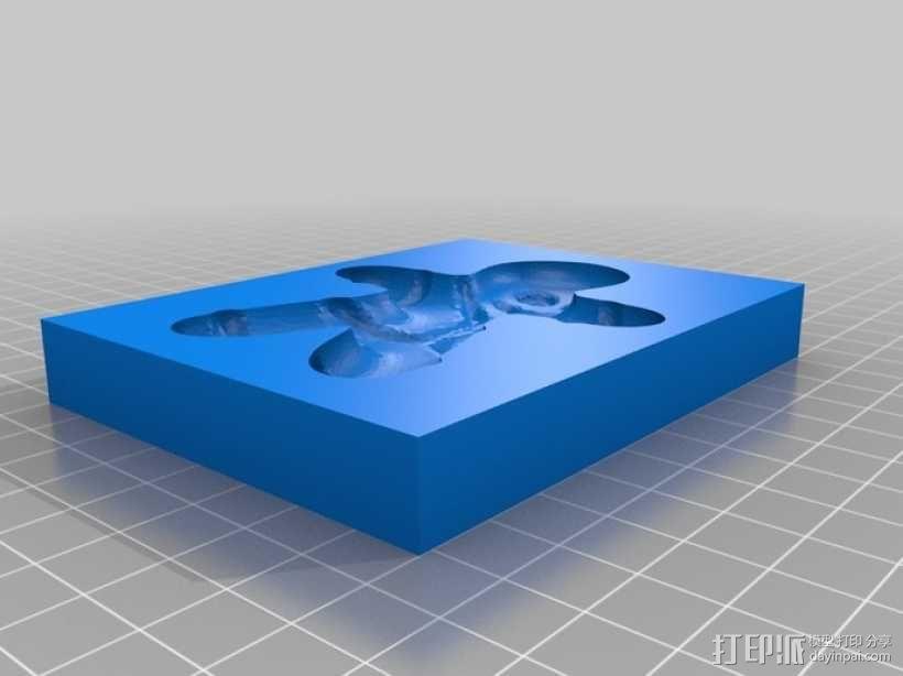 姜饼人模具 3D模型  图1