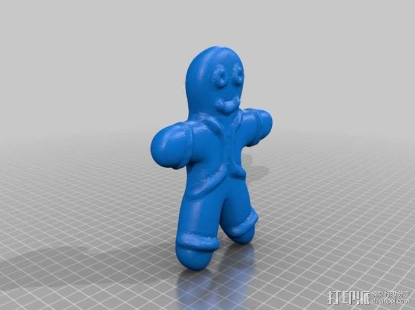 姜饼人模具 3D模型  图3