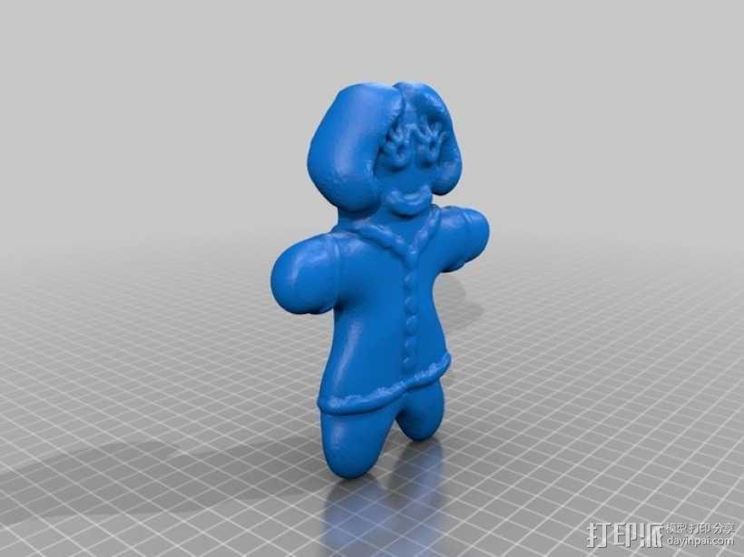 姜饼人模具 3D模型  图4