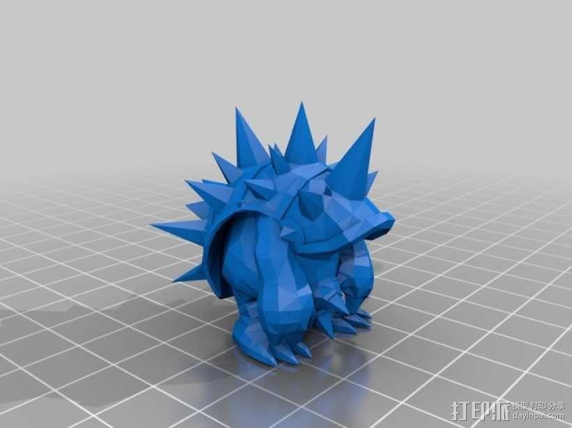 穿山铁甲拉姆斯模型 3D模型  图1