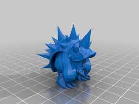 穿山铁甲拉姆斯模型 3D模型