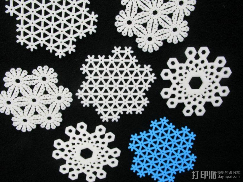 雪花片 晶胞结构 3D模型  图1