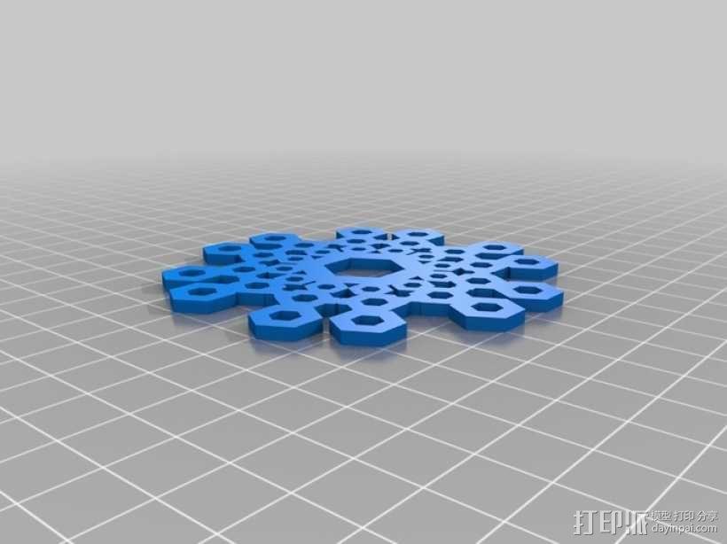 雪花片 晶胞结构 3D模型  图2