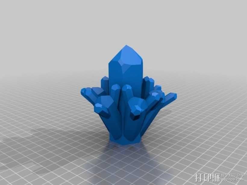 石英晶体模型 3D模型  图1
