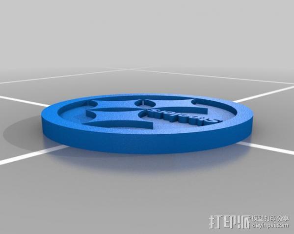 匹兹堡钢人标志 3D模型  图1