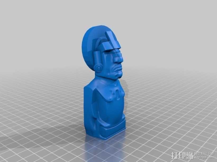 迪米特里 提基雕塑 3D模型  图1