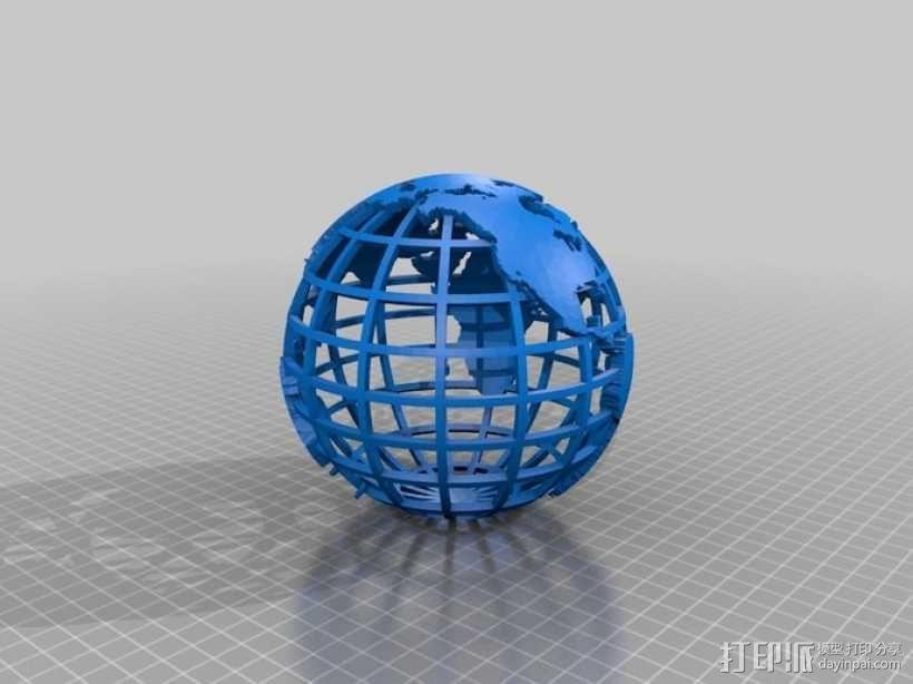 网格地球模型 3D模型  图1