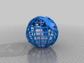 网格地球模型 3D模型
