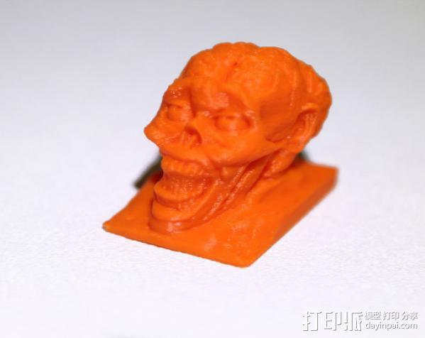 僵尸头模型 3D模型  图1