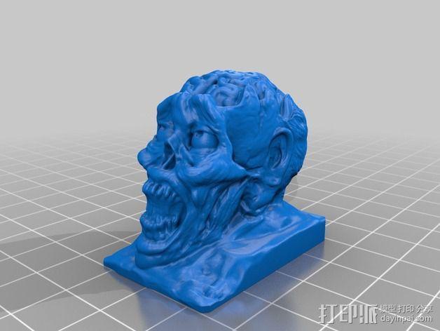 僵尸头模型 3D模型  图2