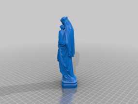 圣母玛利亚雕塑 3D模型