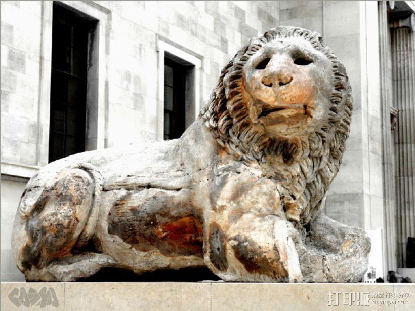 狮子雕塑模型 3D模型  图1