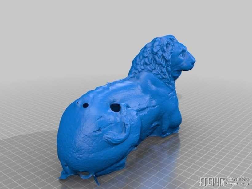 狮子雕塑模型 3D模型  图2