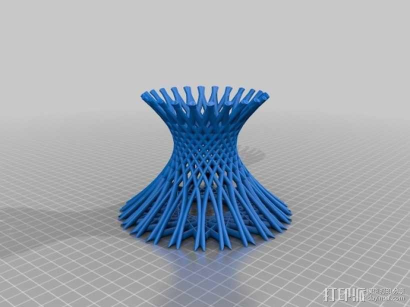 镂空花瓶  3D模型  图1