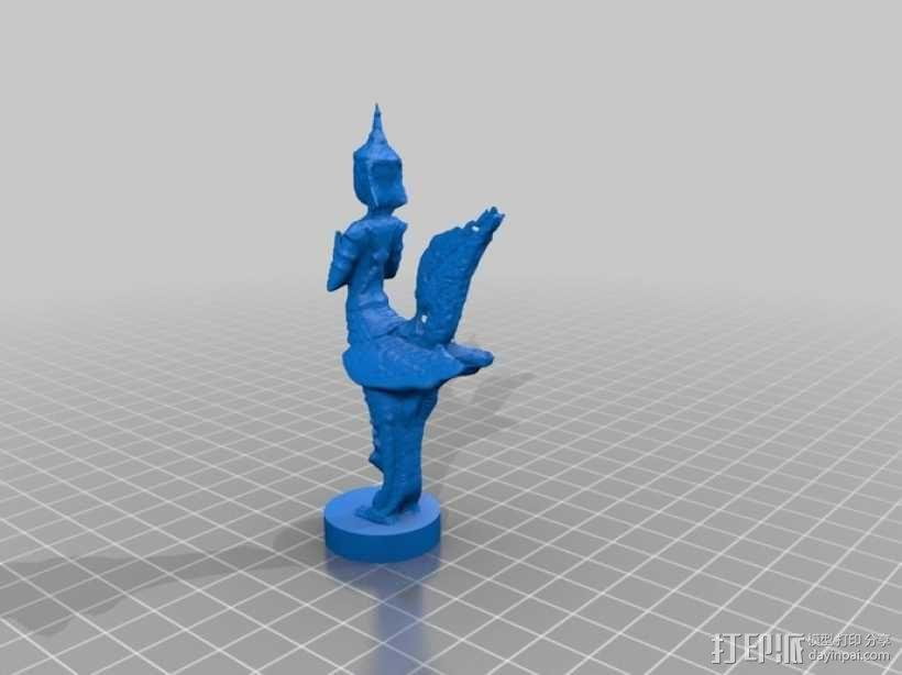 鸟人雕塑模型 3D模型  图1