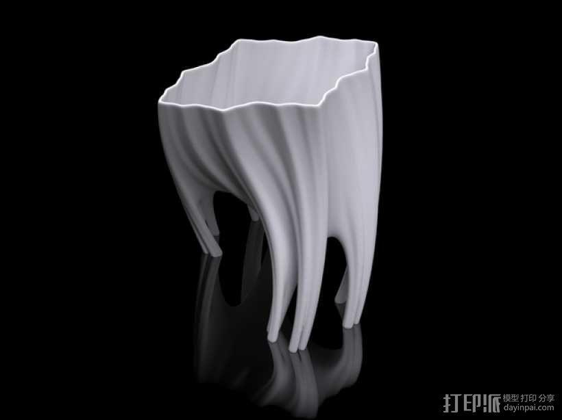 根型花瓶 3D模型  图1