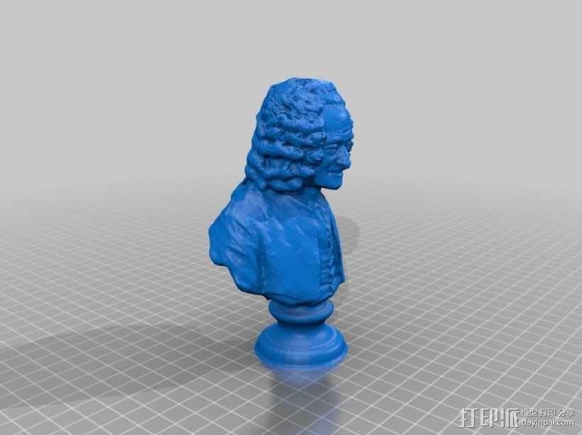 伏尔泰 3D模型  图1