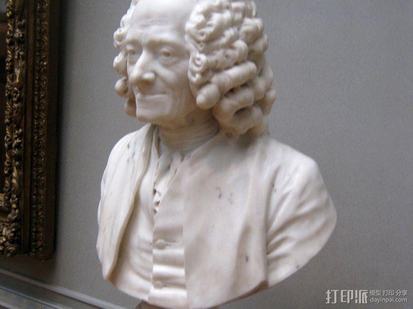 伏尔泰 3D模型  图2