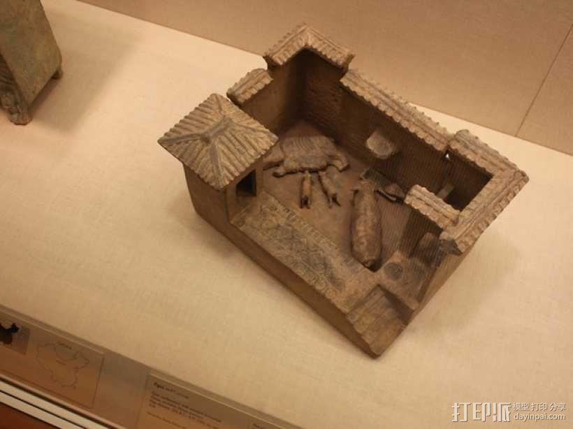 猪舍和茅房 建筑模型 3D模型  图2