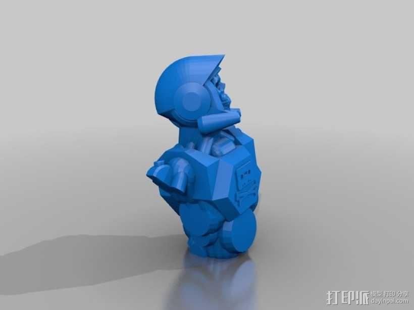 骷髅头钢铁战士 3D模型  图1