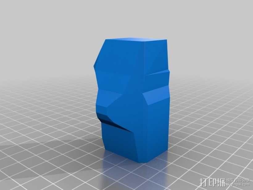 骷髅头钢铁战士 3D模型  图2
