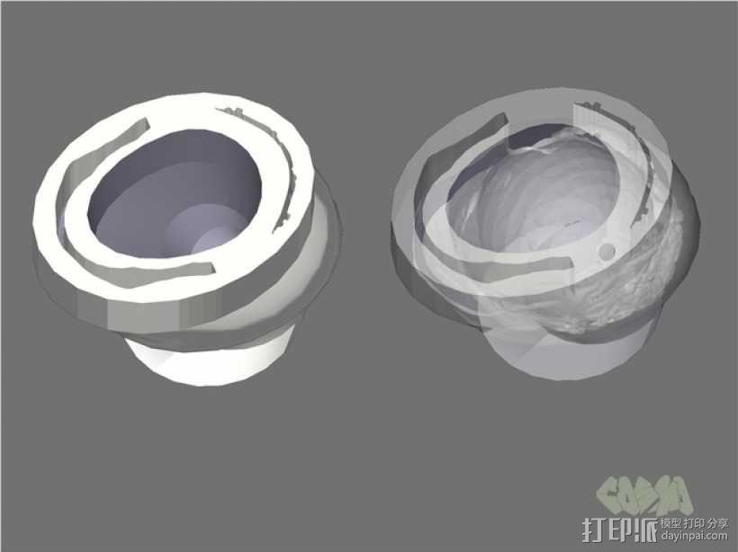 骷髅头钢铁战士 3D模型  图5